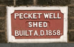 Pecket Well Shed Plaque